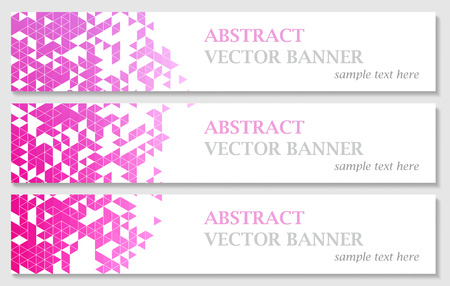 proclaim: Vector banners with abstract multicolored polygonal mosaic background. Modern geometric triangular pattern. Business design template. EPS 10 Illustration