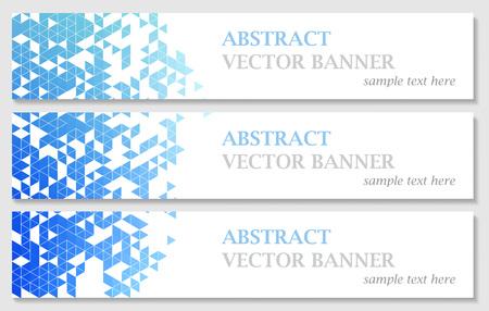 bannières vecteur avec abstrait multicolore polygonale mosaïque fond. Moderne motif triangulaire géométrique. modèle de conception d'affaires. EPS 10