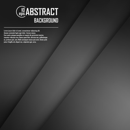 Abstract background of black origami paper. Vector illustration