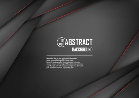 Abstract background of black origami paper. Vector illustration. Mesh. EPS 10