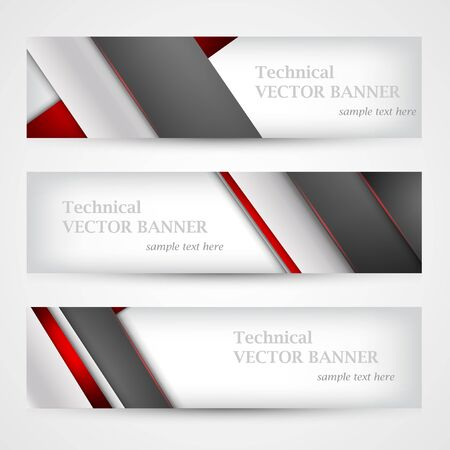 Set of banners with lines paper. Mesh. Business design template. Ilustrace