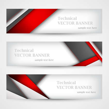Set of banners with lines paper. Mesh. Business design template. EPS 10