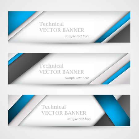 Set of banners with lines paper. Business design template. Vectores