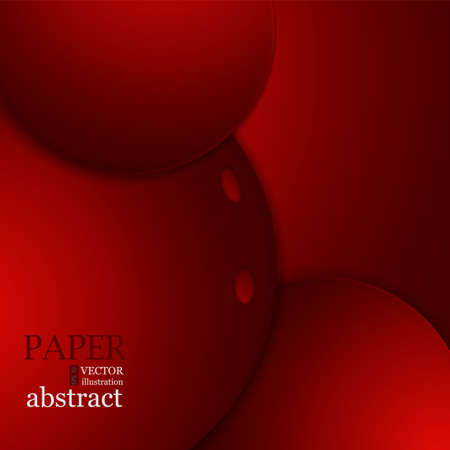 Red curve vector background overlap layer with space for design
