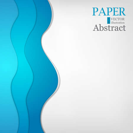 Abstract background in blue color. Blue curve vector background with white spaces for design