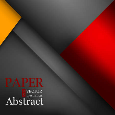 Orange light angle hot tone color background and red line overlap layer paper on dark space for text and message modern artwork design Vectores