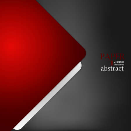 Red triangle and geometric vector background with spaces for design