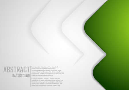 Abstract background in green color. Green curve vector background with white spaces for design Vectores