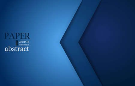 Blue triangle vector background geometric overlap layer on black space for text and background design