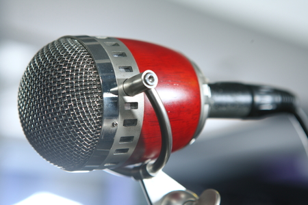 retro microphone: retro microphone Stock Photo