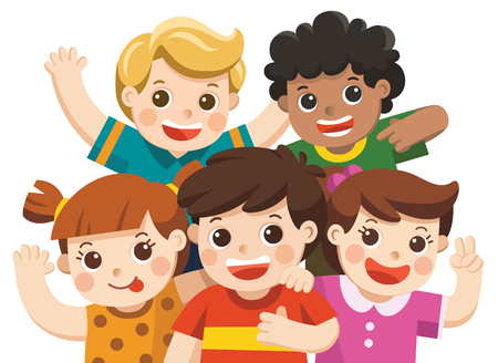 Group best friends illustration.
