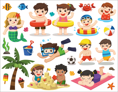 Summer season illustration. Stock Illustratie