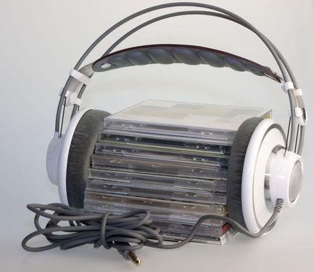 cds: Headphones with CDs