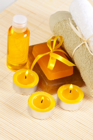 spa treatments, such as soaps, towels and other Stock Photo - 13899393