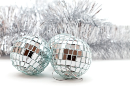 Christmas shiny balls and garlands for decoration Stock Photo - 16380034