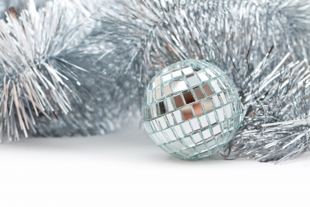 Christmas shiny ball and garland for decoration Stock Photo - 16380035