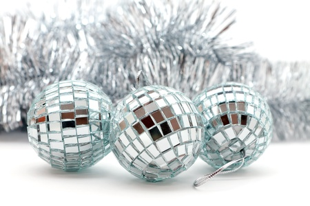 Christmas shiny garlands and balls for decoration Stock Photo - 16457547