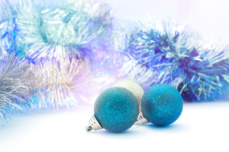 bright Christmas decorations and tinsel for home decorating Stock Photo - 16457550