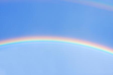 beautiful rainbow in blue sky after the rain Stok Fotoğraf