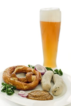 Weisswurst Breakfast Stock Photo - 4672208