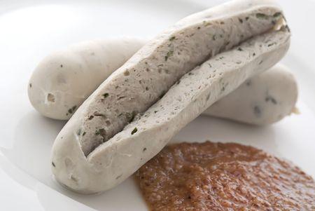 weisswurst: Sliced Weisswurst