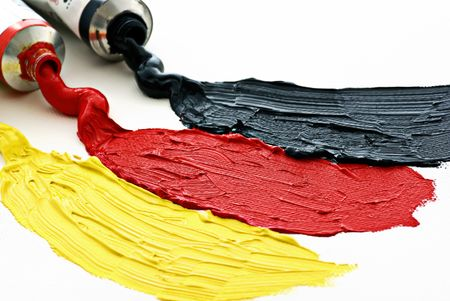 Colors of ther German flag photo