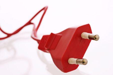 Red power Plug Stock Photo - 4899724