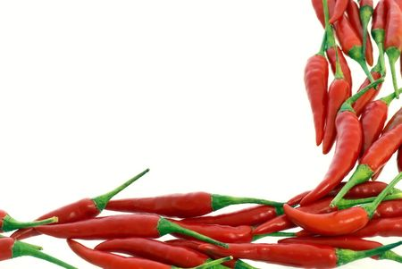 comestible: Chili Decoration Stock Photo