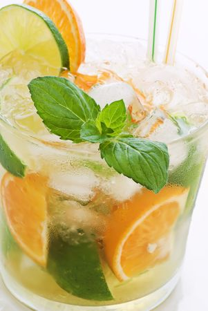exotically: Orange Lime Caipirinha Stock Photo