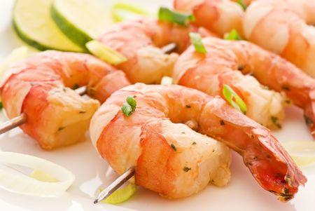 marinated: Shrimp Skewer