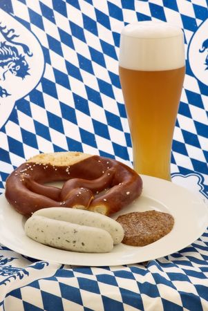 White Sagsage with Wheat Beer photo