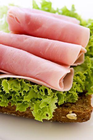ham sandwich: Panino al prosciutto Archivio Fotografico