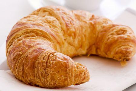 pasteleria francesa: Desayuno Croissant Foto de archivo