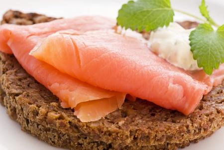 Salmon Sandwich Stock Photo - 7650595