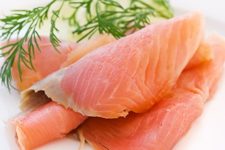 blubber: Smoked Salmon  Stock Photo