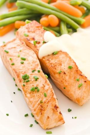 Salmon filet with Beans photo