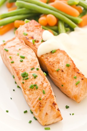 foodie: Salmon filet with Beans