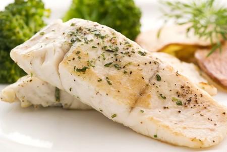 shark catfish: Barramundi Filet with Chips