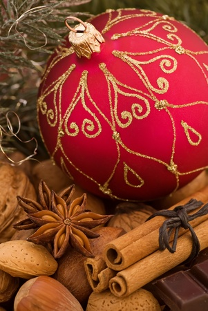 Christmas Bauble with Decoration Stock Photo - 8458738
