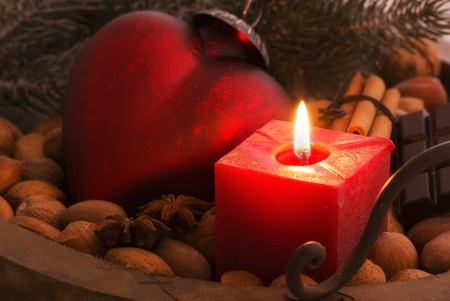 Christmas Decoration with Candlelight Stock Photo - 8455928