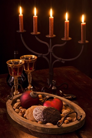 Christmas Decoration with Candlelight Holder photo