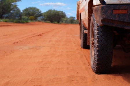 4WD on Sandy Outback Track photo
