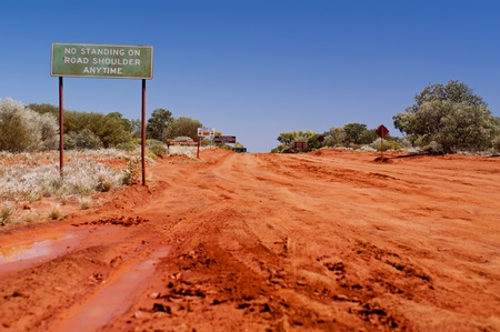 Road Signs on an Off Road Track Stock Photo - 8458684