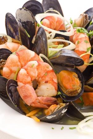 seafood: Seafood plate