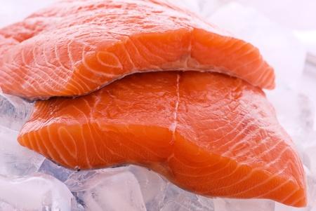 Salmon on Ice Stock Photo - 8458724