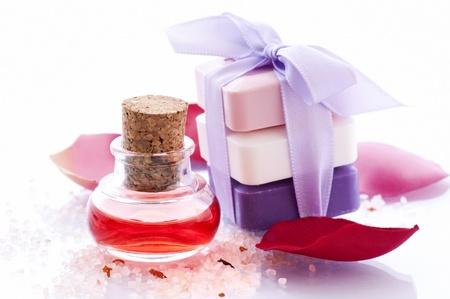 Bath Oil with Rose Petals photo