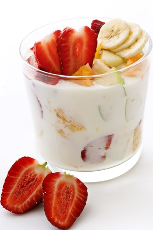 curd: Fruit Salat with yoghurt