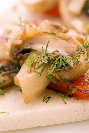 panino: Sandwich de vegetal Foto de archivo