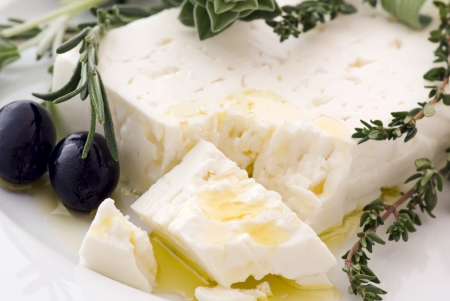 cottage cheese: Feta with Olives