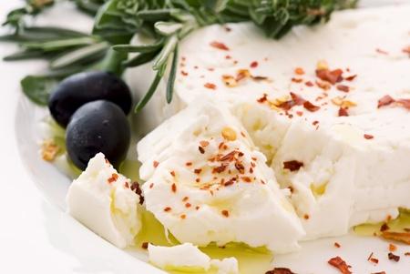 Feta with Olives Stock Photo - 8487190